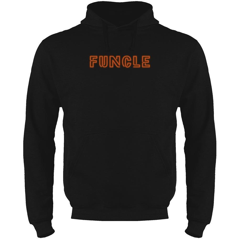 Pop Threads Funcle Fun Uncle Fathers Day Mens Fleece Hoodie Sweatshirt