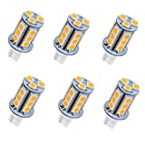 Arrownine T5 T10 Wedge LED Bulb 3W Equivalent to 25W Halogen Bulb for Malibu Paradise Moonrays Outdoor Landscape Walkway Path Area Lighting,RV Travel Tailer Light 12V AC/DC Soft Warm White 6-Pack