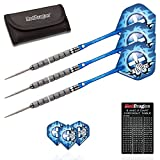 Red Dragon Robert 'The Thorn' Thornton 22 gram - 95% Tungsten Steel Darts with Flights, Shafts, Wallet & Red Dragon Checkout Card