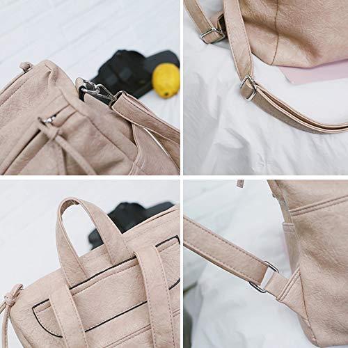 Backpack Mujer al de Libre Mochila Viaje Impermeable Multi PU Mochila de de función Uso Estudiantes B de Mochila Bolsa Aire para Negocios Doble Diagonal Bolsa Z8ZHzqTrw