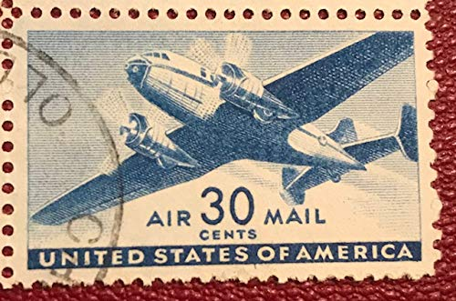 C30 Single - US Air Mail Postage Stamp 1941 Transport Issue 30 Cents Scott # C30