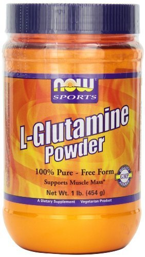 NOW Foods L-Glutamine Pure Powder, 1-Pound (Pack of 2) by Now (Now Foods L-glutamine Powder)