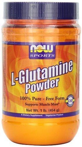 NOW Foods L-Glutamine Pure Powder, 1-Pound (Pack of 2) by Now (Now Foods L-glutamine Powder)