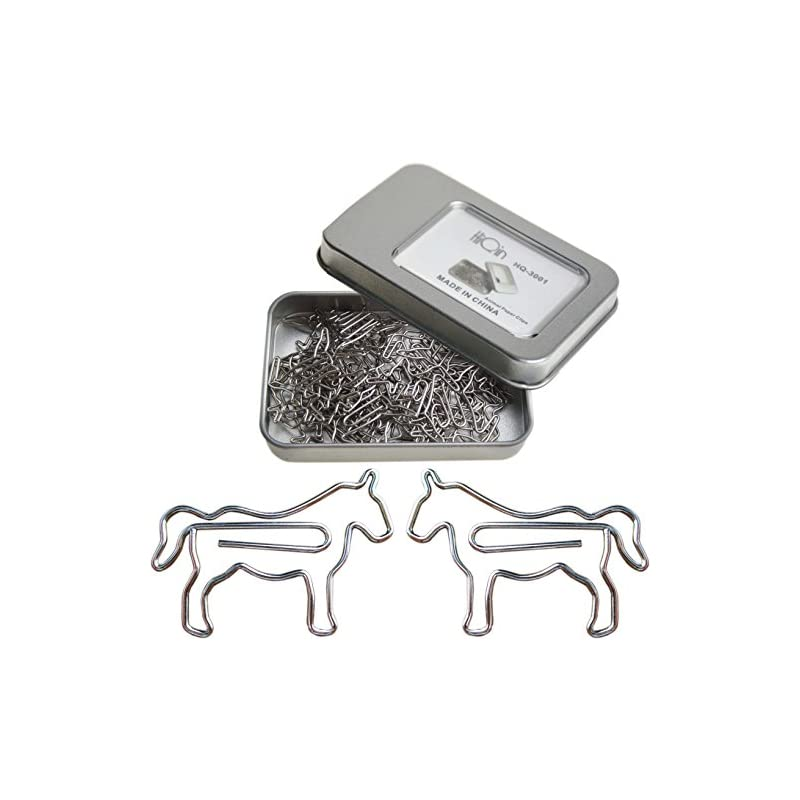 cute-paper-clips-horse-animal-shaped