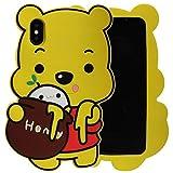 jack 3d grape - iPhone X Case, kangchengrkd 3D Cute Theme Dream HONEY bear soft shell silicone Apple iPhone X(5.8 inches)-HONEY bear