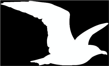 Samunshi Möwe Tier Aufkleber Autoaufkleber Sticker Für Auto Motorrad Wohnmobil Scheiben In 9 Größen Und 25 Farben 10x6cm Weiß Küche Haushalt