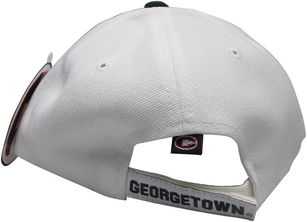 Georgetown University Hoyas White w//Blue G Retro College Team Red Strap Back Hat Cap