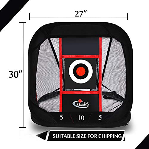 Galileo Chipping Net Golf Practice Driving Training Aids with Target Square Hitting Aid