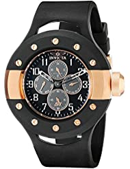 Invicta Mens 17387 S1 Rally Analog Display Japanese Quartz Black Watch