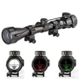 Aukmont 3-9X40 Red & Green Rifle Airgun Scope Night Vision Scopes Telescopic Sight Illuminated Mounts