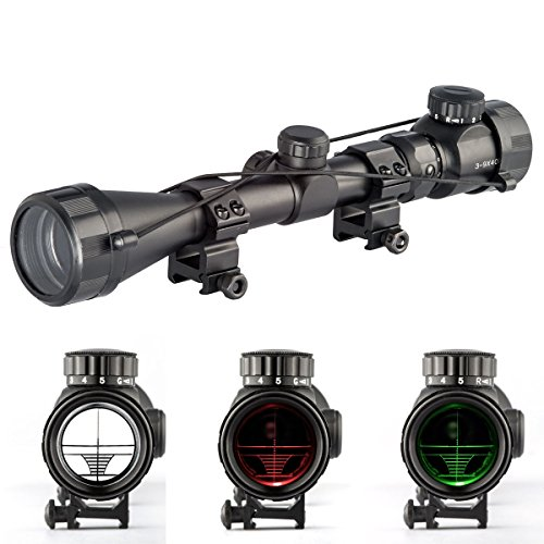 Aukmont 3-9X40 Red & Green Rifle Airgun Scope Night Vision S
