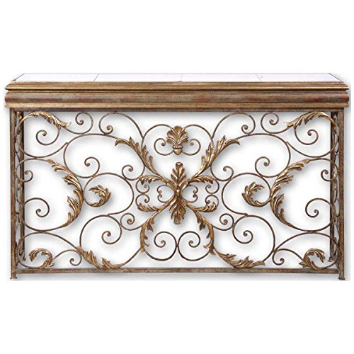 Uttermost 26104 Valonia Embossed Metal Console Table from Uttermost