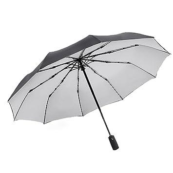 DCRYWRX Paraguas A Prueba De Viento A Prueba De Viento Doble Grande Plegable Paraguas Paraguas Plegado