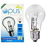10 x Opus 42w = 60w GLS ES E27 Screw Cap Long Life Clear Eco Halogen Light Bulb Dimmable Energy Saving Lamp