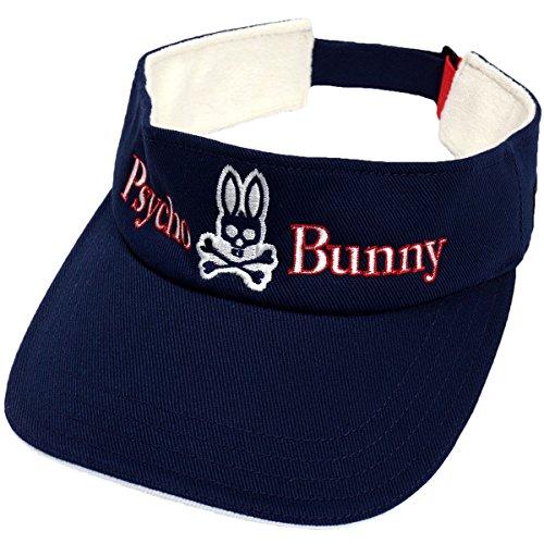 サイコバニー PSYCHO BUNNY 帽子 ゴルフサンバイザー PHMG702F ネイビー フリー