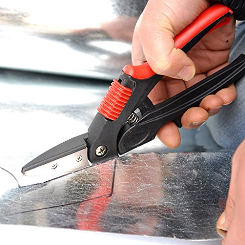 (OTGO Heavy Duty Professional Metal Tin Snips Shear Scissors Sheet Left Cutting)