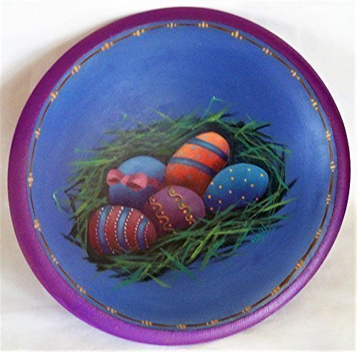 Eggs Ala Easter Bowl Basket - Handmade, Hand Painted, Decorative, Easter Eggs, Wood Bowl, Children, Gift, One-of-a-Kind, Unique Decoration, Home Decor