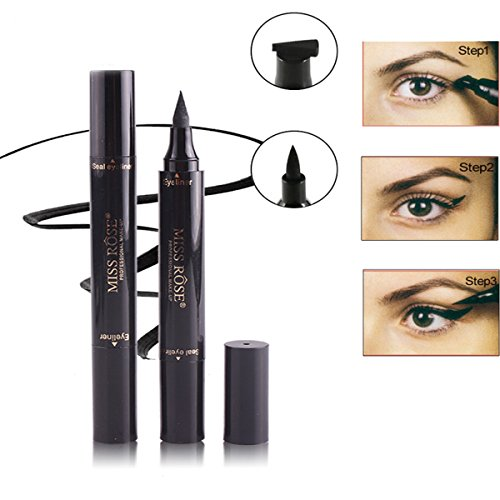 Easy Cat Makeup (GARYOB Liquid Winged Eyeliner Stamp, Black Waterproof Eyeliner Pen for Cat Eye Wing Eyeliner, Easy to Makeup Tool)