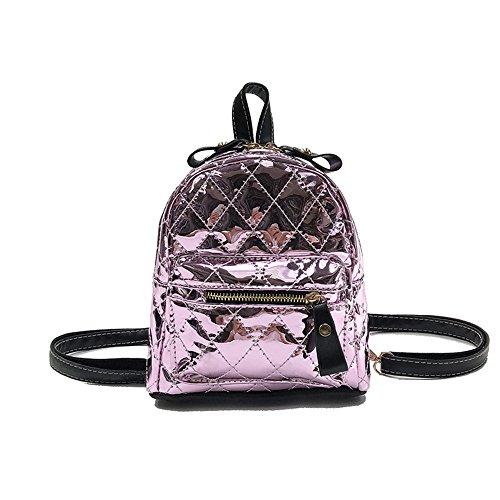 Meaeo Rhombique D'Unité Pink Or Sac De Mode Petit À Centrale Sac Sac Sac Main Sac À Dos À Dos rArzwCq