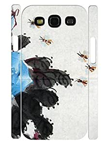 Flower Design Beautiful Ink Pattern 3D Print Hard Plastic Phone Case for Samsung Galaxy S3 I9300