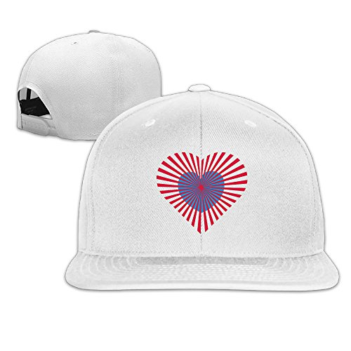 Era Costume Ideas (Love Heart With Rays 2 Colours Flat Brim Baseball Hat)