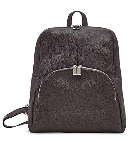 Italian Jinne Backpack 100 Montte Leather Chocolate Di Dark Soft 1U4pwTcZB6