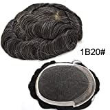 1dab82460e Lyrical Hair Super Thin French Lace Front Mens Toupee Poly Coating Hairpiece  Bleached Human Hair Systems