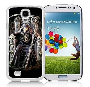 Samsung Galaxy S4 grim reaper White Screen Cellphone Case Unique and Genuine Design