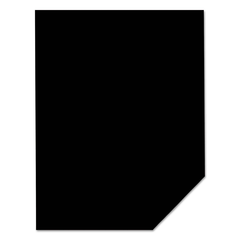 Neenah Paper 22321 Color Paper, 24lb, 8 1/2 x 11, Eclipse Black, 500 Sheets