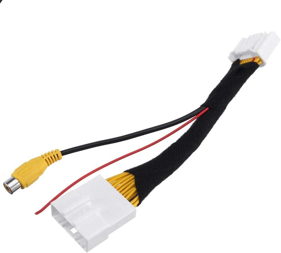 Moligh doll Voiture 24 Broches Commutateur DEntr/éE Vid/éO Cam/éRa de Stationnement Inverse Cable Adaptateur RCA Convient pour Stepway Vivaro Dacia Sandero Clio 4