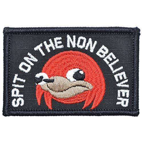 """Ugandan Knuckles""""Spit On The Non Believer"""" - 2x3 Patch"""