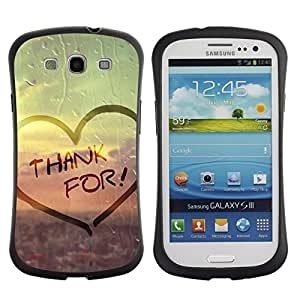 All-Round Hybrid Rubber Case Hard Cover Protective Accessory Gerneration-I Compatible with SAMSUNG GALAXY S3 & I9300 - Love Thank For