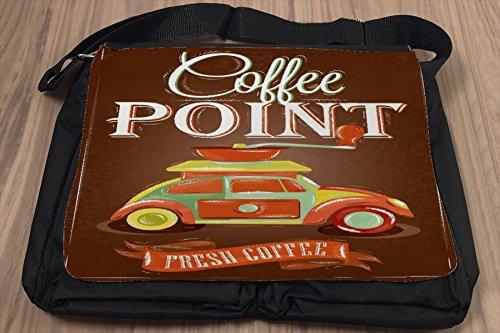 Umhänge Schulter Tasche Restaurant Küche Frischer Kaffee bedruckt Cv5lERoS