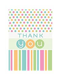 Pastel Baby Shower Thank You Note Cards, 8ct BOBEBE Online Baby Store From New York to Miami and Los Angeles