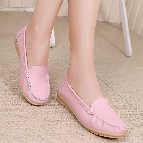 Four Plates Femme Rose Flats Chaussures Seasons Chaussures Véritable Femme Chaussures Chaussures Sunnywill en Cuir TwS0xqP
