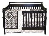 Trend Lab Versailles Black and White 4 Piece Crib Set
