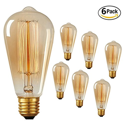 Dimmable Vintage 200Lumens Pack Squirrel Filament ST64