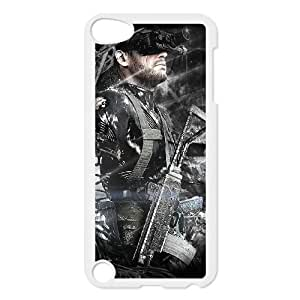 T5B77 Metal Gear Solid Ground Zeroes funda V4I5JB funda iPod Touch 5 casos cubren HW6UGM4WP blanco