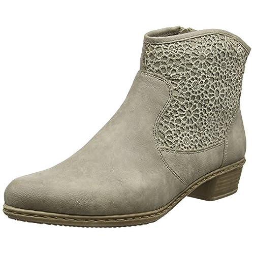 5de16cd00467a good Rieker Y0735, Bottes Hautes Femme - bignateproductions.com