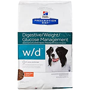 Hill's Prescription Diet w/d Low Fat - Diabetic - Gastrointestinal Dry Dog Food 17.6 Pounds 57