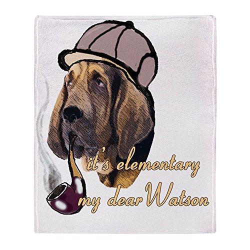 cafepress bloodhound detective hat soft fleece throw blanket