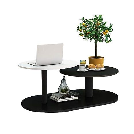 Amazon.com: Xiaoyan Mesa de café de 3 niveles con 2 patas ...