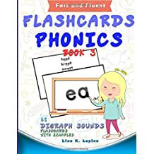 Phonics Flashcards (Digraph Sounds) Part2: 68 flash cards with examples