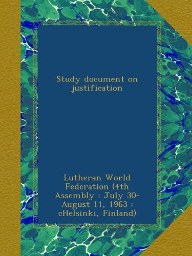 Download Study document on justification ebook