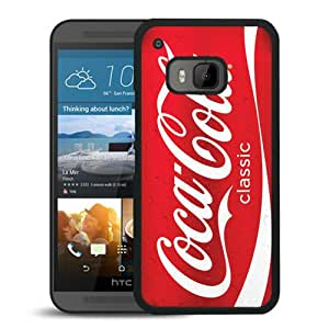 Beautiful Designed Cover Case For HTC ONE M9 With Red Soda Style Coca Cola Black Phone Case