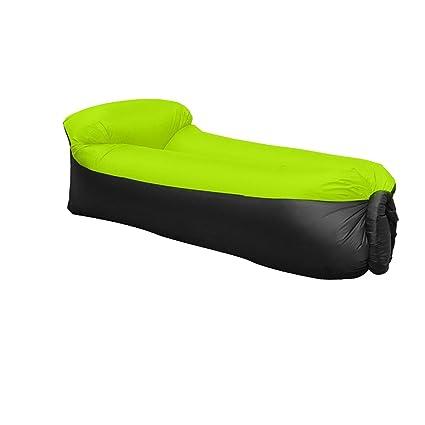 JINGOU - Tumbona hinchable con bolsa de transporte para piscina, acampada, playa, senderismo, parque, patio, jardín, fácil inflado