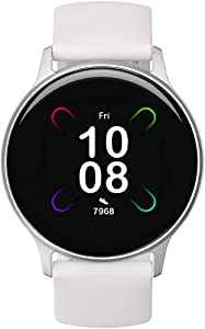 UMIDIGI Uwatch 3S Smart Watch, Fitness Tracker with Blood Oxygen Monitor and Heart Rate Monitor for Women Men. 5ATM Waterproof Activity Tracker with Compass for iPhone Android.