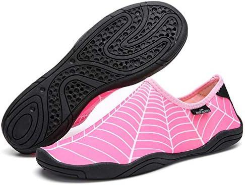 男性と女性のウォーターシューズサーフィンビーチスイミングシュノーケリング速乾性排水通気性のソフトで軽いカップル上流の川のハイキングアウトドアスポーツやレジャー中立的な靴 ポータブル (色 : Pink, Size : US6.5)