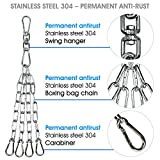 Yes4All Heavy Bag Swivel Chain with 4 Snap Hooks