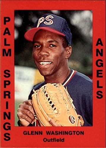 1988 Palm Springs Angels Cal League Cards #111 Glenn Washington - - Springs 111 Palm
